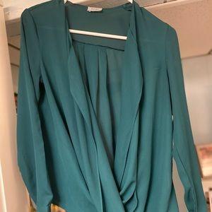 Open front blouse